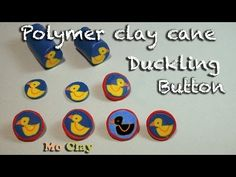 How to make buttons out of polymer clay (duckling cane tutorial) - YouTube