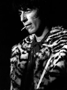 Johnny Thunders in an animal print jacket