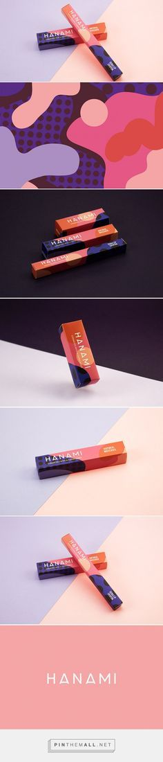 Packaging Design - HANAMI - Australian cosmetic company - Designed by Eve Warren Logo Design, Web Design, Graphic Design Branding, Identity Design, Print Design, Brand Identity, Stationery Design, Branding And Packaging, Beauty Packaging