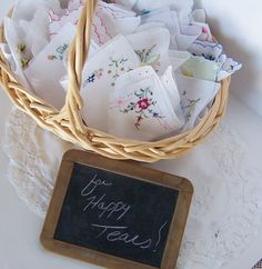Happy Tears Wedding Favors Vintage by GreenbriarCreations on Etsy