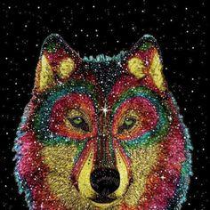 Cosmic Wild Animals Art Print by Luna Portnoi Artful Dodger, Chesire Cat, Hand Drawn Fonts, Palette, Favim, Dog Art, Spirit Animal, Cosmic, Light In The Dark