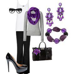 Love this deep purple! And those killer heels!