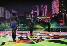 Pintura futurista en technicolor de Alex Kiessling