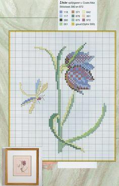 Free tulip cross stitch pattern from www.coatscraft.pl