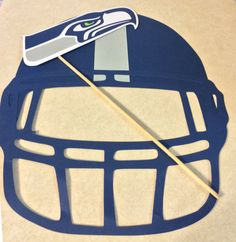 Seattle Seahawks Football Helmet for Photo by LeslisDesigns for Super Bowl Party