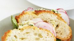 Shaved-Radish Sandwiches with Herb Butter Recipe | Bon Appetit
