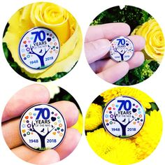 In celebration of of the finest healthcare in the World, launched in 1948 by health secretary Aneurin Bevan, the NHS was born! Pretty 'tree' badge with epoxy coating. Aneurin Bevan, Personalised Badges, Custom Coins, Epoxy Coating, Pebble Art, Secretary, Charity, Health Care, Celebration