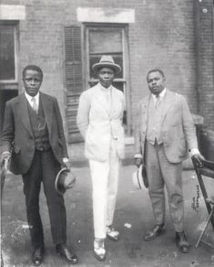 "Marcus Garvey with Prince Kojo Tovalou-Houenou of Dahomey, called the ""Garvey of Africa"", and George O. 1924 Part of the set Famous Faces in Black History. For more on the African American experience visit Discover Black Heritage. Marcus Garvey, Black History Facts, Black History Month, Kings & Queens, African Royalty, Vintage Black Glamour, Art Africain, African Diaspora, My Black Is Beautiful"