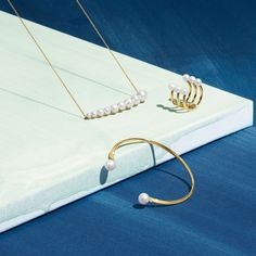 The Neva collection by Danish brand Georg Jensen features a selection of pearl jewellery Jewelry Ads, Jewelry Sites, Beaded Jewelry Designs, Photo Jewelry, Pearl Jewelry, Jewelry Branding, Jewelry Trends, Sterling Silver Jewelry, Handmade Jewelry