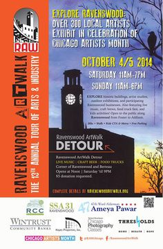 Ravenswood ArtWalk October 4 & 5 2014 in Tent B at the Detour