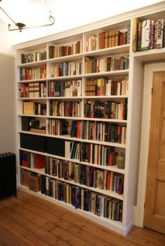 84 Fantastic Floor to Ceiling Bookshelves with Ladder I Can Only Dream Of Having Bookshelves Library with A Steel Bookshelf, Bookcase Wall Unit, Floor To Ceiling Bookshelves, Living Room Bookcase, Bookshelves Built In, Bookcases, Built Ins, Rose House, Shelving