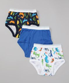 Take a look at this Carter's Blue Dinosaur Underwear Set - Toddler & Boys by Carter's on #zulily today!