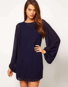 Find the best selection of ASOS Shift Dress with Bell Sleeve. Shop today with free delivery and returns (Ts&Cs apply) with ASOS! Cute Dresses, Beautiful Dresses, Casual Dresses, Short Dresses, Dresses With Sleeves, Mini Dresses, Party Dresses, Style Couture, Couture Fashion