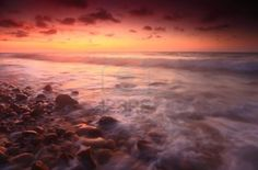 Stock Photo - Sunset at Tempurung Seaside, Kuala Penyu, Sabah