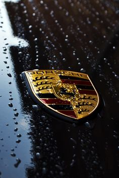Porsche badge - classic car design Stuttgart