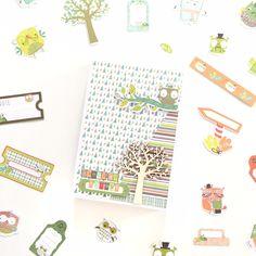 BASICCREA BLOG: Carpeta y mini-álbum, colección Hiboux
