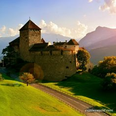 Vaduz Castle,  Liechtenstein The palace and official residence of the Prince of Liechtenstein that gave its name to the capital of Liechtenstein, which it overlooks from an adjacent hilltop