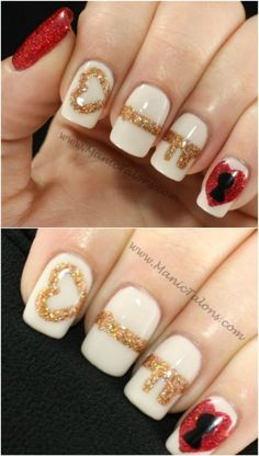 Key to My Heart - 20 Ridiculously Cute Valentine's Day Nail Art Designs