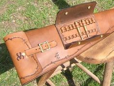 Custom Leather Rifle Scabbards Hand Crafted By Lever