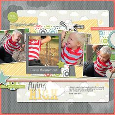 #papercraft #scrapbook #layout   Swing by Beatrice @Kari Jones alissa Peas in a Bucket