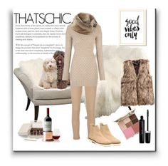 """Cozychic"" by marionmeyer on Polyvore featuring AG Adriano Goldschmied, Stuart Weitzman, Stila, Marc Jacobs, Mark & Graham and cozychic"