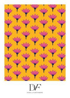 DVF Peace Palm Print Saffron, Spring 2016