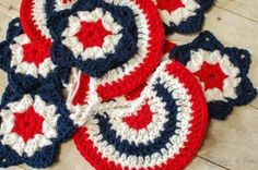 Star Spangled Banner Crochet Bunting - Petals to Picots