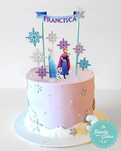 Elsa Birthday Cake, Frozen Themed Birthday Cake, Frozen Theme Cake, Frozen Cake Topper, Birthday Cake Toppers, Themed Cakes, Elsa And Anna Birthday Party, 5th Birthday, Birthday Ideas