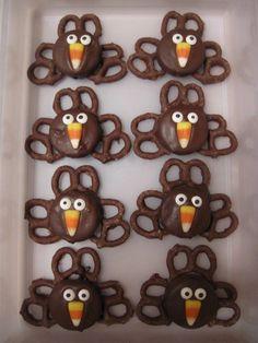 Thanksgiving Cookies - Oreo Turkeys