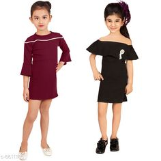 Frocks & Dresses Elegant Cotton Lycra Blend Kids Dresses Fabric: Cotton Blend Sleeve Length: Three-Quarter Sleeves Pattern: Solid Multipack: Pack Of 2 Sizes: 2-3 Years (Bust Size: 9.5 in Length Size: 21 in) Country of Origin: India Sizes Available: 2-3 Years, 3-4 Years, 4-5 Years, 5-6 Years, 6-7 Years, 7-8 Years   Catalog Rating: ★4.2 (446)  Catalog Name: Free Mask Agile Fancy Girls Frocks & Dresses CatalogID_1053415 C62-SC1141 Code: 836-6611185-