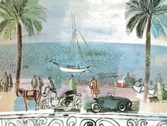 Promenade in Nice by Raoul Dufy