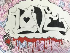 Students from Collins Middle School in Corsicana, Texas create their own Graffiti Art. LOVE
