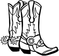 Cowboy Boot Silhouette Clip Art   Square Dance Clipart
