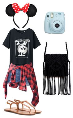 """Disneyland outfit"" by alicelilianrose on Polyvore featuring Topshop, Uniqlo and Yves Saint Laurent"