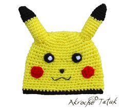 Tuque Pikachu  Pikachu crochet hat