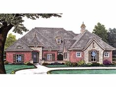 Eplans French Country House Plan - Three Bedroom French Country - 2688 Square Feet and 3 Bedrooms from Eplans - House Plan Code HWEPL67571