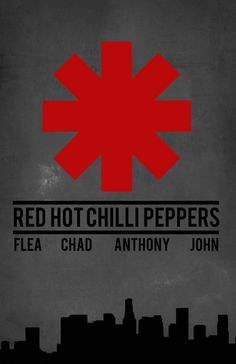 Red Hot Chilli Peppers Band Poster Illustration by StillxSincere