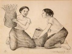 Artworks of Anita Magsaysay-Ho (Filipino, 1914 - Wake Island, Pitcairn Islands, Easter Island, Solomon Islands, Hawaiian Islands, Small Island, Papua New Guinea, Filipino, Painting & Drawing