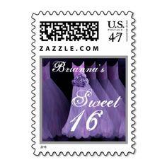 CUSTOM NAME Sweet 16 Birthday - Purple Dresses
