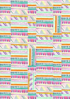 multicoloured aztec pattern // http://society6.com/VasareNar/multicoloured-AZTEC_Print