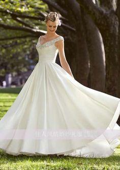 Strap Tea-lenght / Long 50s Style Vintage Wedding Dresses