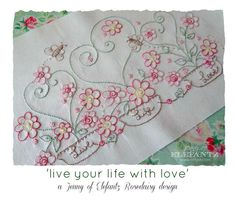 Live Your Life With ... by Elefantz   Embroidery Pattern - Looking for your next project? You're going to love Live Your Life With Love stitchery by designer Elefantz. - via @Craftsy