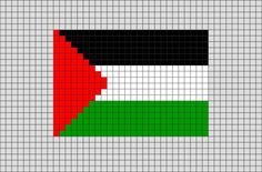 Flag of Palestine Pixel Art