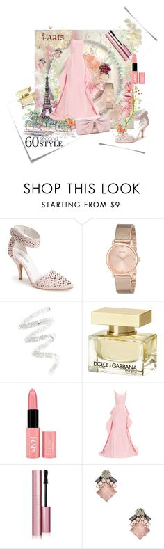 """60 seconds style"" by tempestaartica ❤ liked on Polyvore featuring Post-It, Jeffrey Campbell, GUESS, Cynthia Rowley, La Tour Eiffel, Dolce&Gabbana, NYX, Oscar de la Renta, Too Faced Cosmetics and Elizabeth Cole"