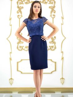 Rochie office bleumarine - Image Clothing