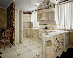 Luxurious Traditional Kitchen Design   Decoration For House