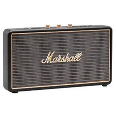 Bluetooth-högtalare med stort Rock n' Roll-ljud i litet format Marshall Stockwell, Sonos Play 1, Class D Amplifier, Waterproof Speaker, Usb, Digital Trends, Bluetooth Speakers, Marshall Speaker, Rock N Roll