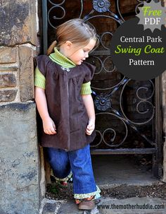 Quality Sewing Tutorials: Central Park Swing Coat pattern and tutorial from The Mother Huddle