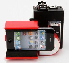 Lomokino Super Movie Camera Phone Attachment Online Only Techno Gadgets, Spy Gadgets, Gadgets And Gizmos, Electronics Gadgets, Phone Gadgets, Lomo Camera, Camera Phone, Smartphone Holder, Camera Obscura
