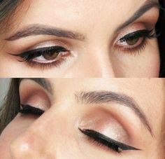Champagne Smokey Eye - #eyeshadow #eyemakeup #smokeyeye #graytracy #wingedliner - Bellashoot.com (iPhone, iPad & Web)